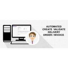 Automated create validate delivery order/invoice